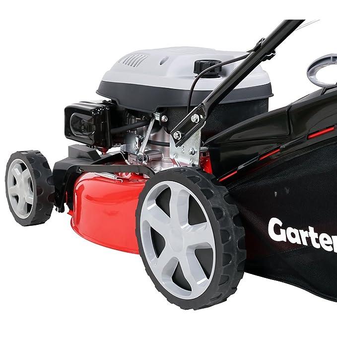 GartenXL 18-139-M3 - Cortacésped de gasolina 4 en 1, 46 cm ...