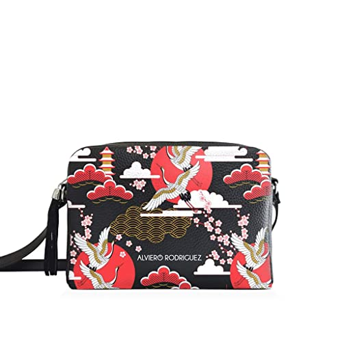 aa40cd9632 Alviero Rodriguez Borsa Donna Lola Bag Japanese Sky Cielo Bird Giappone in  Ecopelle