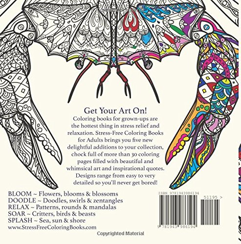 Amazon Splash Adult Coloring Book Stress Free Books For Adults 9781943986194 Prismatic Publications