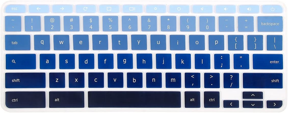 "Keyboard Cover Skins Compatible with Lenovo Chromebook C330 11.6""/Lenovo Flex 11 Chromebook 11.6"" /Lenovo Chromebook N20 N21 N22 N23 / Chromebook N42 N42-20 14""(Gradual Blue)"