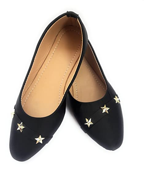 853ba902e414 Rgk s Stunning Pair of Artificial Leather 3 Star Front Ballet Bellies for  Women and Girls (
