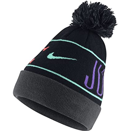 Amazon.com  Nike JDI (Just Do It) Pom Beanie Hat  628676-011 Blk ... a54b97ae2b6
