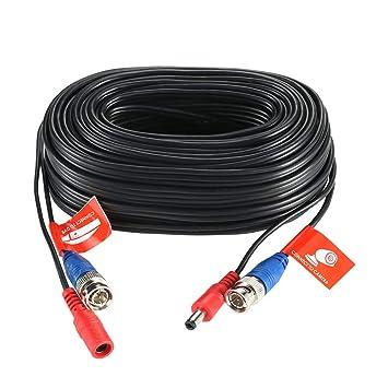 ZOSI 30m Cable de BNC Video y DC Fuente de Alimentación para Cámara Vigilancia CCTV Kit de Cámara Seguridad: Amazon.es: Bricolaje y herramientas
