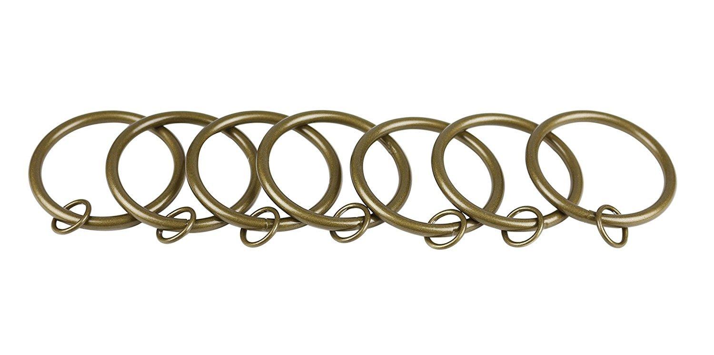 Urbanest Metal Curtain Drapery Eyelet Rings, 2-inch Inner Diameter, Set of 14, Antique Gold