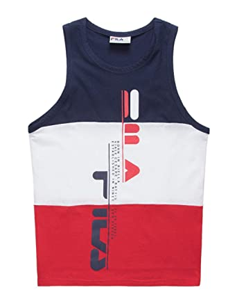 1c0ce9981184 Fila Alf Tank Top, Red/White/Blue, Small at Amazon Men's Clothing store: