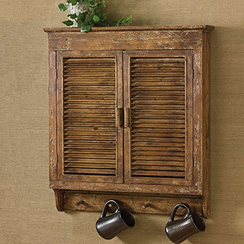 UPC 762242357433, Shabby Chic Distressed Wood Shutter Cabinet