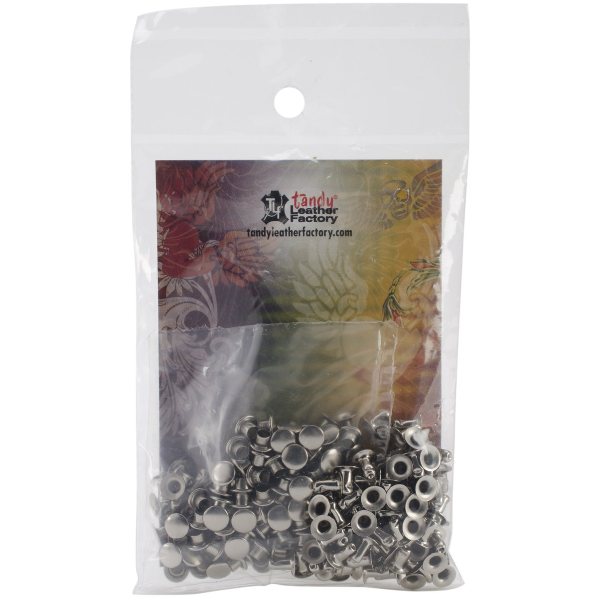 Tandy Leather X-Small Rapid Rivets Nickel Plate 100/pk 1278-12