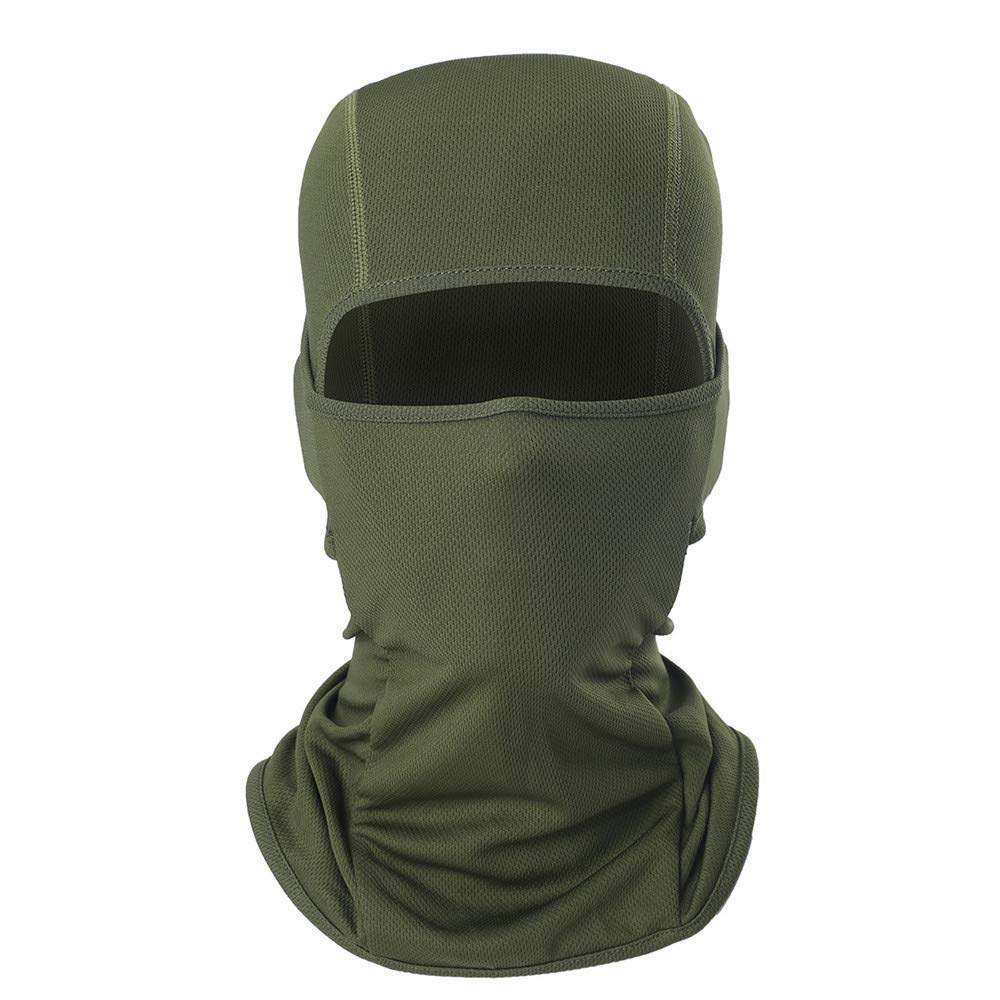 Glumes Face Mask Windproof Sun Dust Protection| Solid Color Design|Durable Face Mask|Bandana Face Shield|Motorcycle Fishing Hunting Cycling (Army Green)