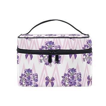f85dbeb27f78 Amazon.com : Pink Stripe Lavender Nursery Toiletry Bag Multifunction ...