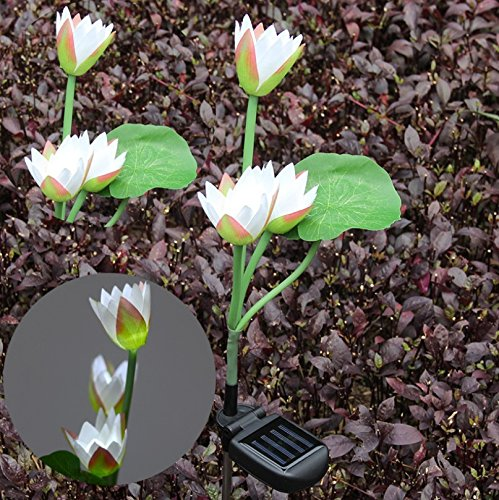 Adsled Solar LED Lotus Flower Tree Branches Lights Lamps Lighting 29'' (Whtie 2 Bundle)