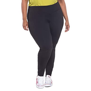 564afbb7c Image Unavailable. Image not available for. Color  BUXOM Cute Full Length  Stretch Yoga Pants for Women Plus Size with Mesh Inserts Black