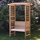 All Things Cedar GA87-B Garden Arbor with Bench
