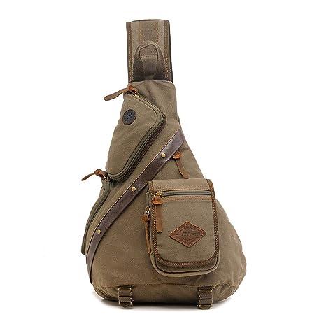 Amazon.com : FHGJ Men Chest Back Pack Bag Vintage Satchel ...