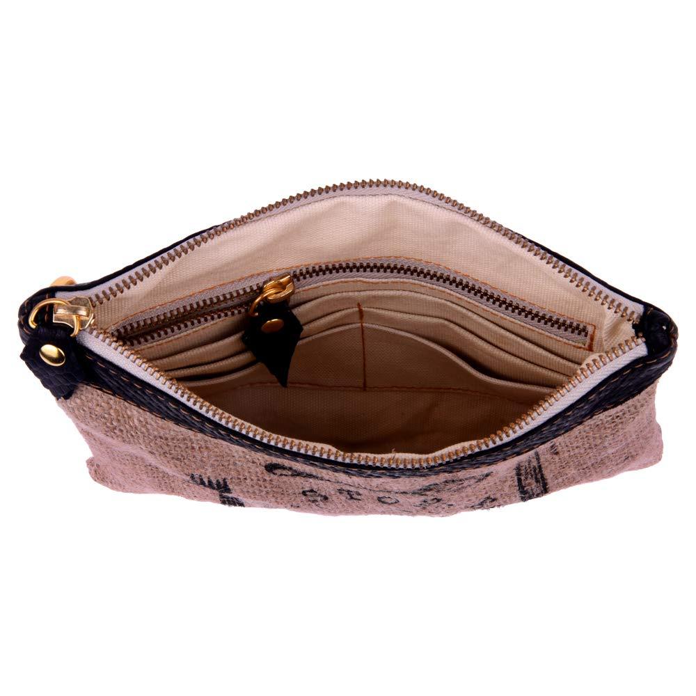 828fe88d3c237 Goldmarie Jute Tasche Stoff Stop Eating Animals Motiv Handtasche Clutch  abnehmbaren Taschenhenkel natur beige  Amazon.de  Schuhe   Handtaschen