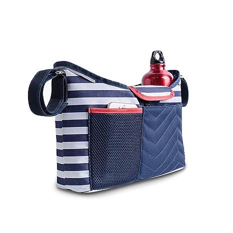 SSONARIN 2 en 1 Bolsa Organizadora para Cochecito de Bebé Changing Bag,con un cojín