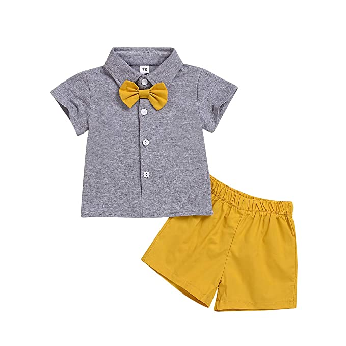 32c1823cc Amazon.com: Sibling Summer Outfit Set, Matching Boy and Girl Short Sleeve  T-Shirt Tops +Shorts Clothes Set 0-6Y: Clothing