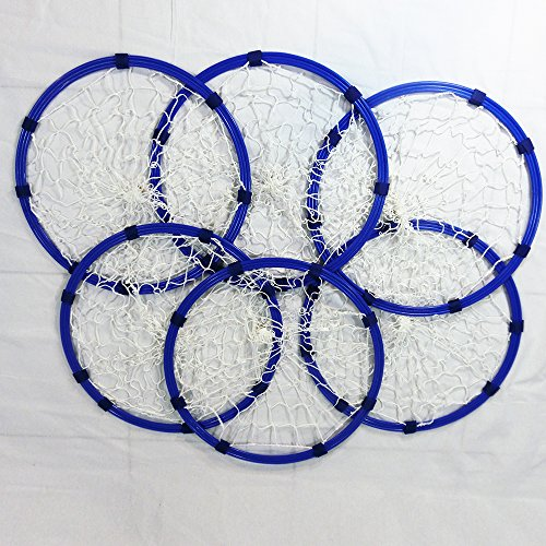 (Le Petit Tennis Hand Held Ring Net Target Hoop set 16 inches (Pack of 6))