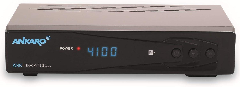 pr/éprogramm/é pour Astra Hotbird Noir HDTV, DVB-S//S2, SAT, HDMI, SCART, 1x USB 2.0, Easyfind, Full HD 1080p avec PVR et Timeshift Ankaro DSR 4100 Plus HD HDTV R/écepteur satellite num/érique HDTV
