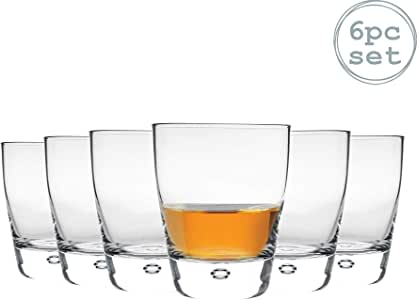 Bormioli Rocco Luna Borrar burbuja de cristal Base Vasos de bebidas alcohólicas - 260 ml - Pack de 6: Amazon.es: Hogar