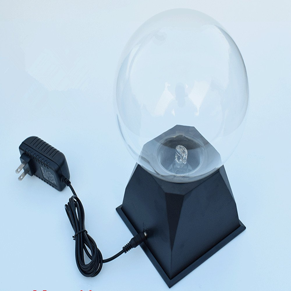 Pelddy Touch Sound Sensitive Glass Plasma Ball Lamp Crystal Blue Color Globe Design (8Inches)