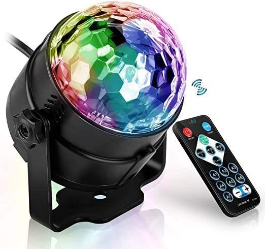BOSHDEN Proyector Luces LED Disco Ball Mini Luces del Escenario 7 ...