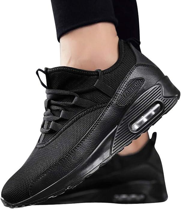 Jodier Zapatillas de Tela Unisex Adulto Zapatillas Running para Hombre Aire Libre y Deporte Transpirables Casual Zapatos Gimnasio Correr Sneakers Negro Blanco Rojo Verde 36-45