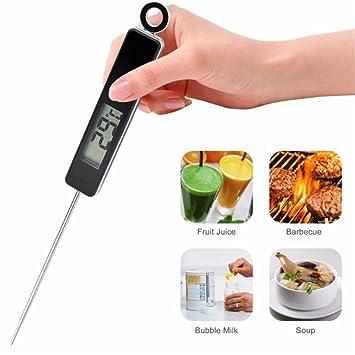 Termómetro de cocina LLVV para horquilla de barbacoa o barbacoa con lectura instantánea para cocina,