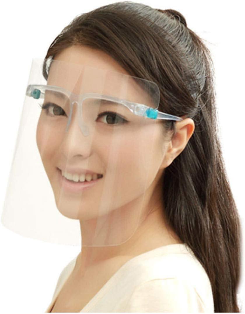 Visera de protección, banda elástica transparente, visera de protección facial, antisalpicaduras para la limpieza de la cocina