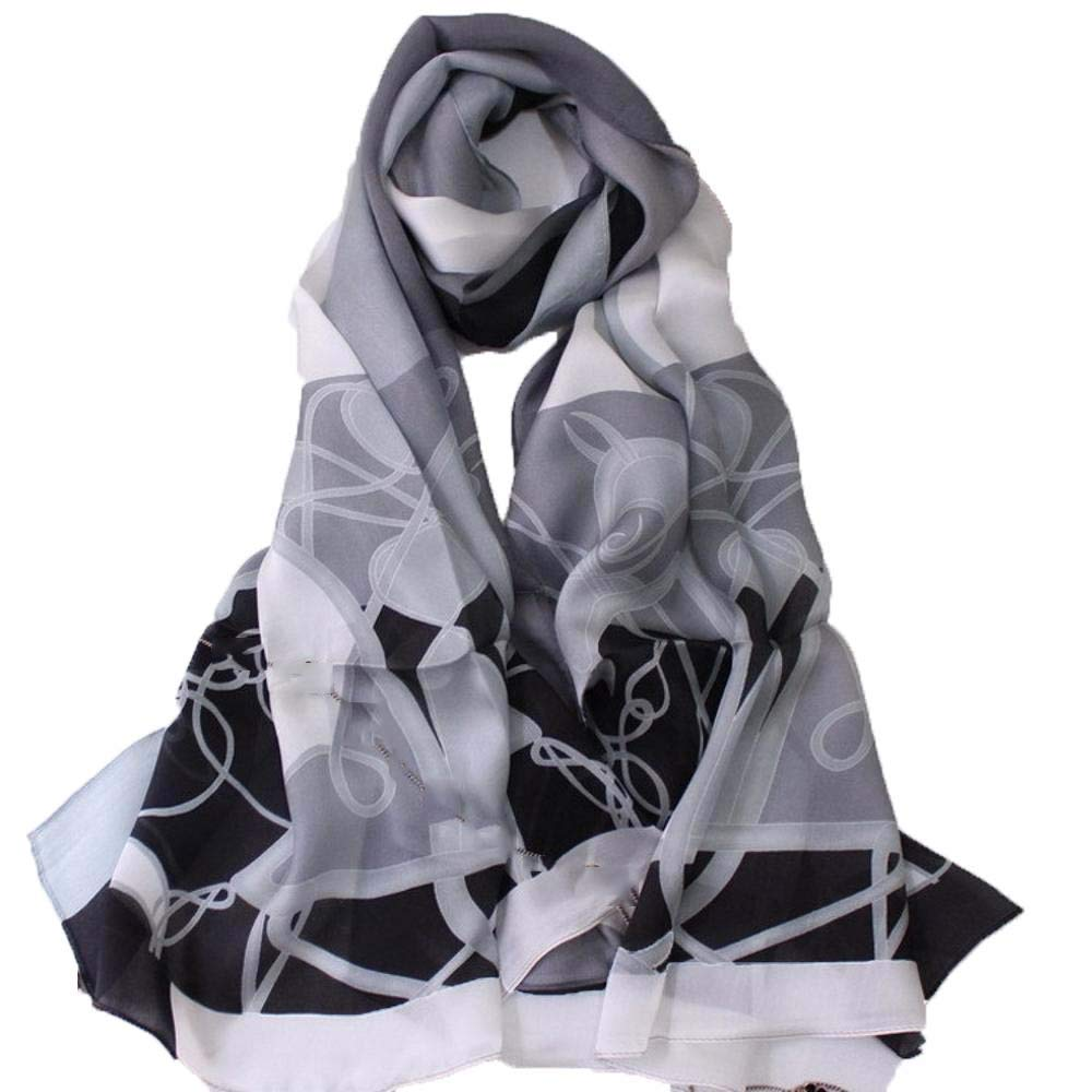 Weiwei Women's Silk Shawl Silk Scarf Light and Breathable Send Friends and Family 186CM65CM