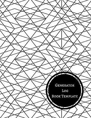 generator log book template generator maintenance log journals for