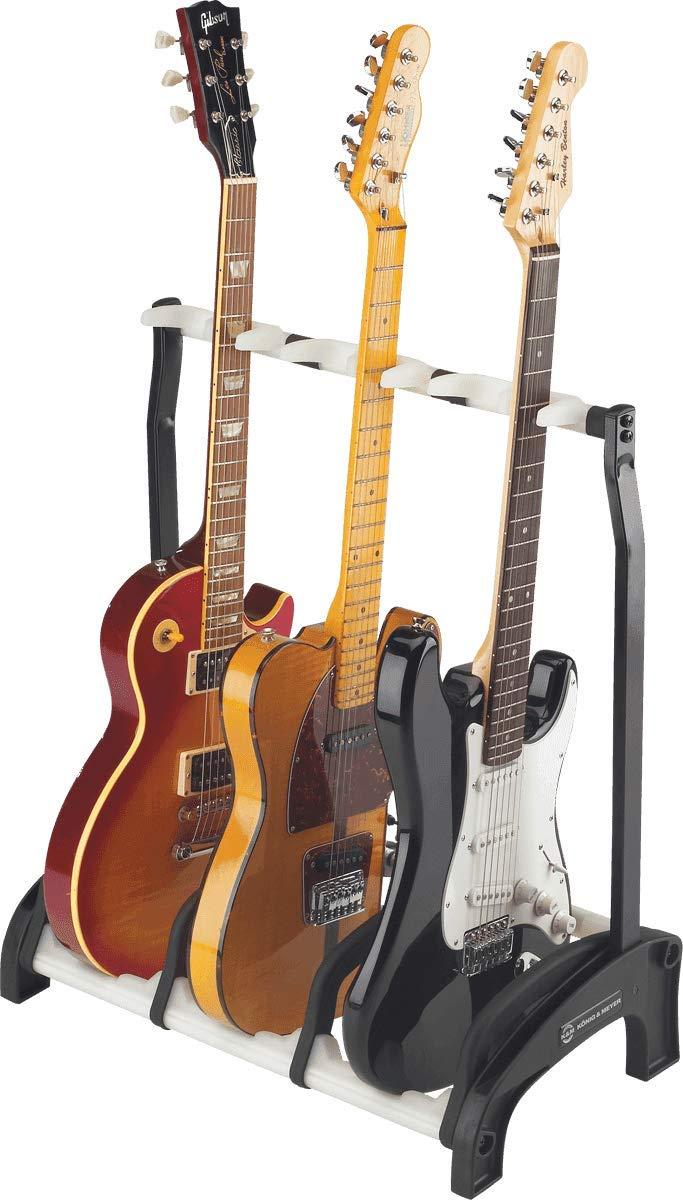 K/önig /& Meyer 16280 accesorios para guitarra Guitar holder, Color blanco, De pl/ástico, Acero