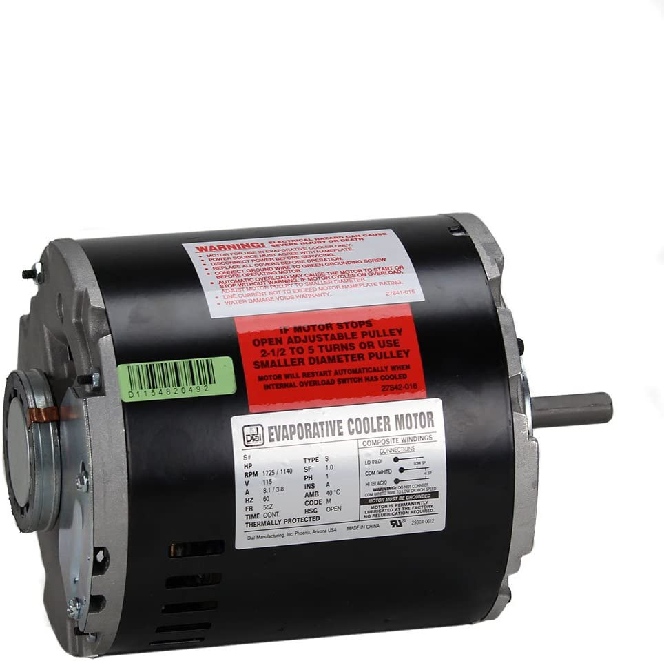 Dial Manufacturing 3/4 HP 115V 2 Speed Evaporative Cooler Motor
