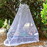EVEN NATURALS Luxury Bed Canopy Mosquito Net, Large: for Single to Queen Size, Quick Easy Installation, Finest Holes: Mesh 380, Curtain Netting with Entry, Storage Bag, No Chemicals Added