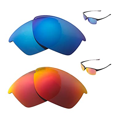 129dd177b8 Image Unavailable. Image not available for. Color  Walleva Polarized Fire  Red + Ice Blue Replacement Lenses ...