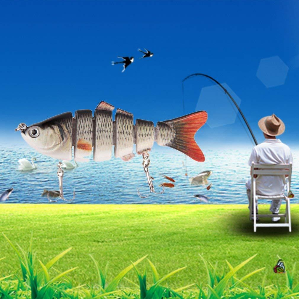 Sunnyday Pesca /única Wobbler Lure 6 Segmento Hard Bait Realista Artificial para Se/ñuelos de Pesca Multi-articulado Hard Minnow Tackle de Pesca