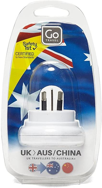 Go Travel UK-AUS Australian and China Compact Earthed Adaptor Adapter Ref 528