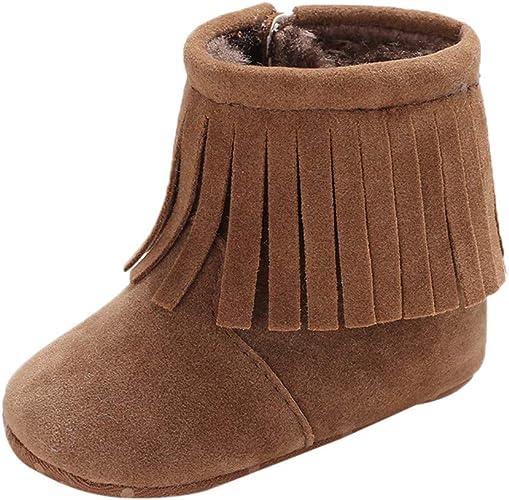 Infant Thick Warm Boots Newborn Baby Girls Winter Cashmere Button Boots Prewalker Shoes