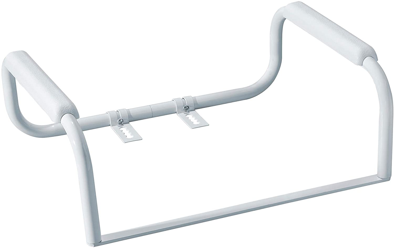 Moen DN7015 Home Care 23.25-Inch Toilet Safety Bar Rails, Glacier