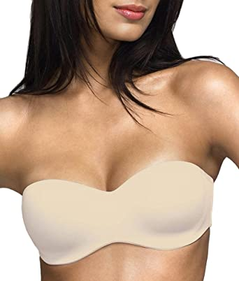 Dominique Seamless Strapless Bra, 46C, Nude