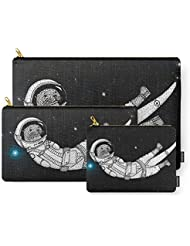Society6 André Floating Around In Otter Space Carry-All Pouch