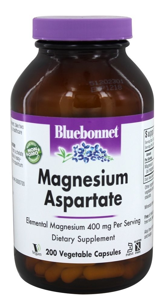 Bluebonnet Nutrition - Magnesium 400 mg. - 200 Vegetarian Capsules