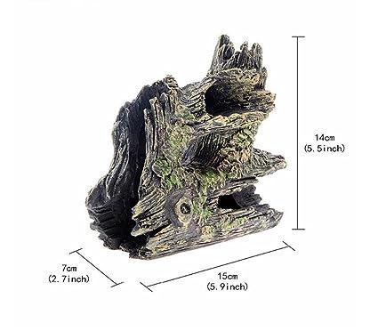 Kangqi Decoración del hogar Pecera de Acuario Ocultar Cueva de Adorno Casa para la cría de
