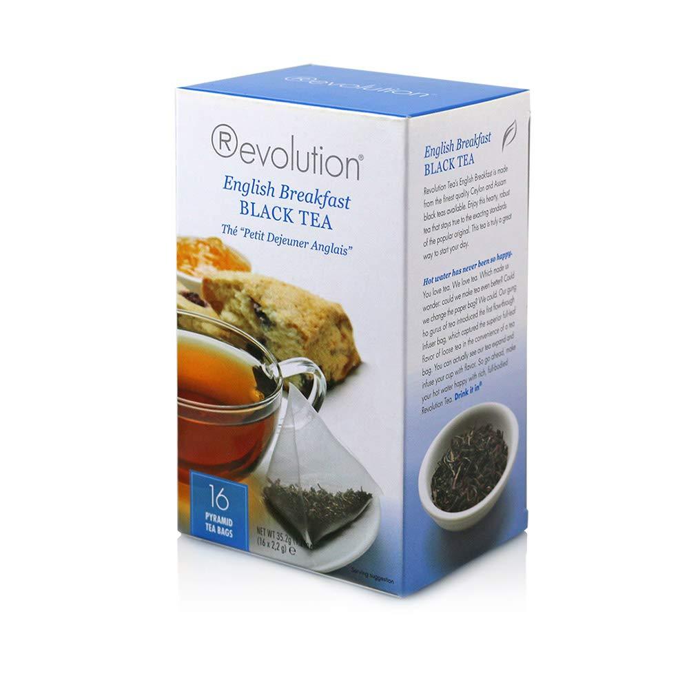Revolution Tea Black Tea, English Breakfast, 16 Count (Pack of 6)