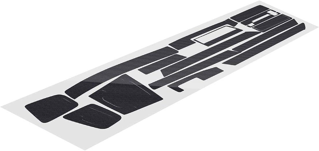 1 JenNiFer Motif en Fiber De Carbone De Voiture Int/érieur Tableau De Bord Autocollant Enveloppement D/écoration Main Gauche Conduite pour BMW 3-S/érie E46 2001-2004