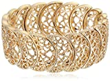 Best 1928 Jewelry Bracelets - 1928 Jewelry Gold-Tone Filigree Stretch Bracelet Review