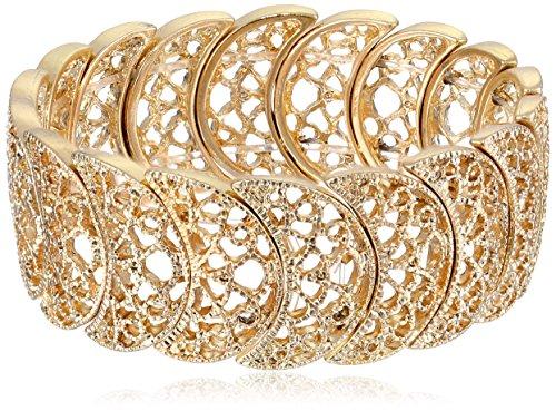 1928 Jewelry Half Circle Filigree Bracelet product image