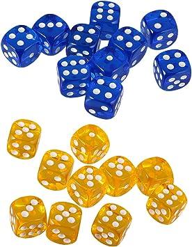 SM SunniMix Dado D6 Dados de 6 Caras de Puntos para Juego de Mesa de Tablero 20 Unids: Amazon.es: Juguetes y juegos