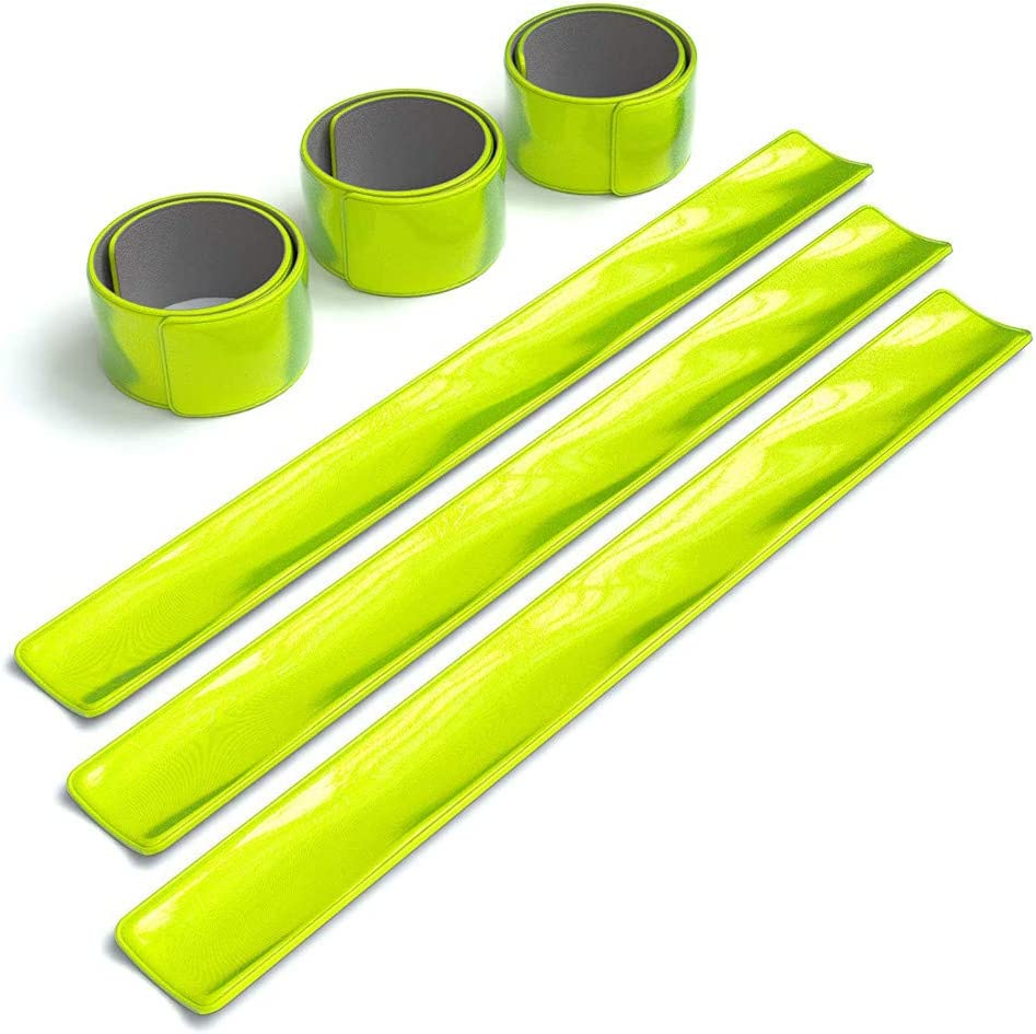 High Visibility Reflective Bands Wristbands for Cycling Running Arm Wrist Ankle Bands Leg Straps and as Bike Pants Cuff Clip Zcuhen 6 Pack Accessories for Night Sports//Running Gear
