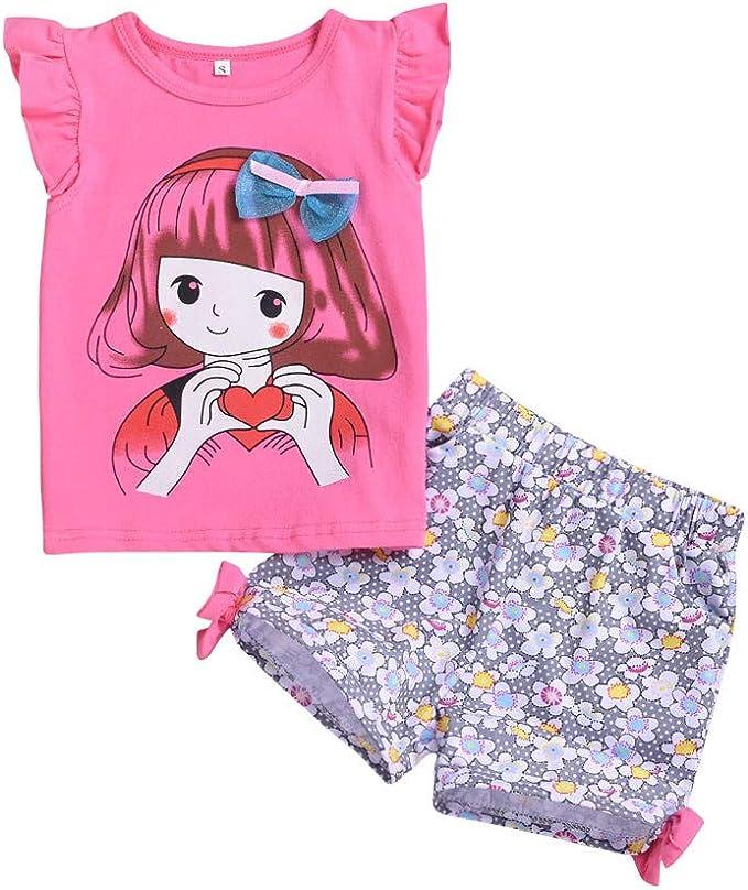 feiXIANG Ragazze Neonato Bambino Neonata Bambina Ragazzi Bambini Bambine Bimbo Bimba Abiti Vestiti Vestito Abito Pagliaccetto Jumpsuit Pantaloncini Pantaloni Camicia Top T-Shirt