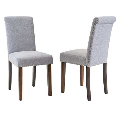 Amazon.com: Merax, sillas de comedor elegantes con detalle ...